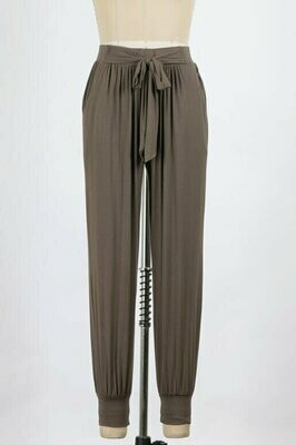 Take Me Out Take Me Home Joggers in Walnut