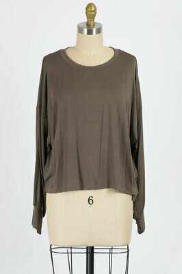 Take Me Out Take Me Home Top in Walnut