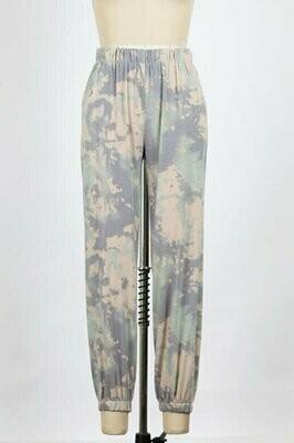 Sage Combo Tie Dye Sweat Pants