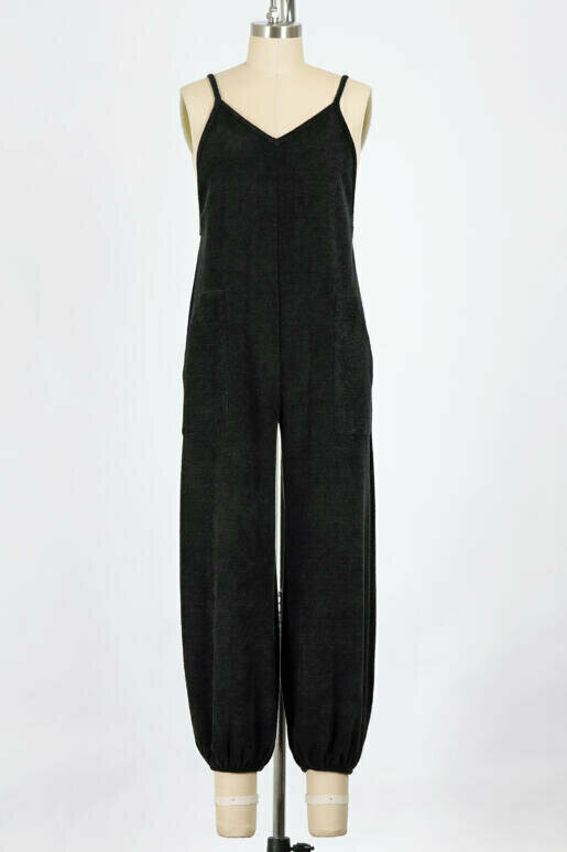 The Ultimate Black Textured Jumpsuit