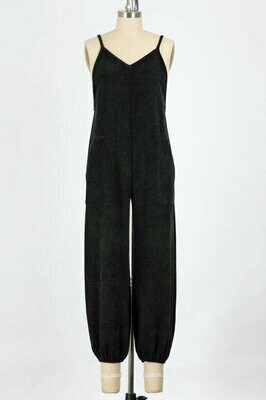 The Ultimate Black Textured Jumpsuit