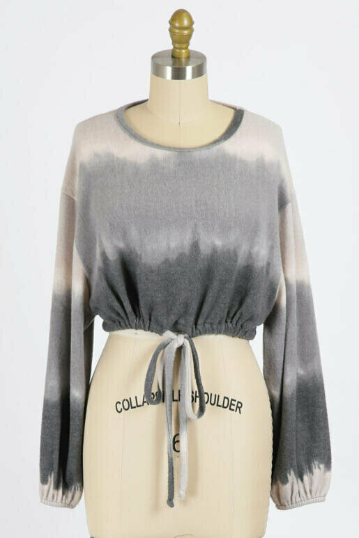 Ombre Pullover with Drawstring