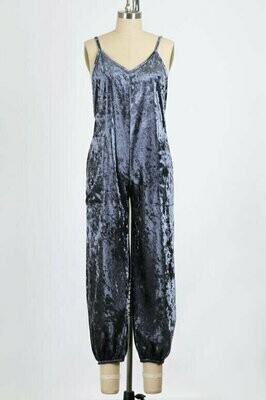 You Fancy but You Comfy Velvet Jumpsuit