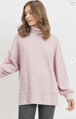 Pink is Our Love Language Turtleneck Top