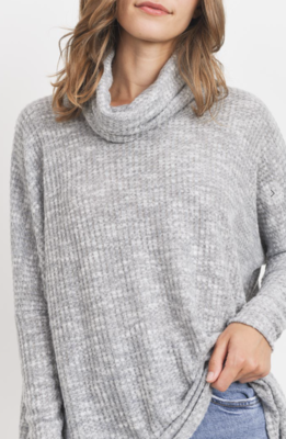 Winter Waffle Turtle Neck Top