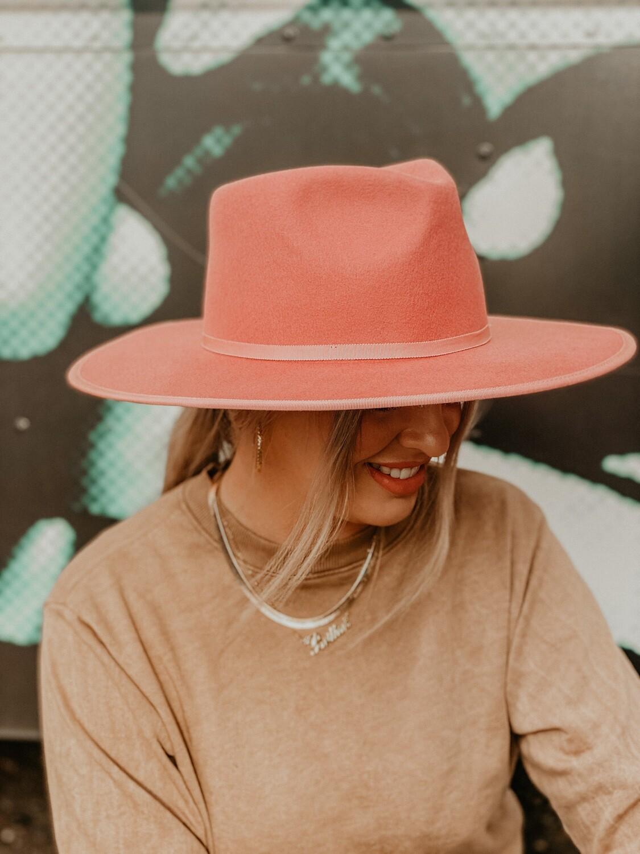 Blush Wide Brim Hat