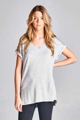 Everyday Butter Soft V-Neck in Heather Grey