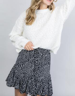 All Season Dotted Mini Skirt