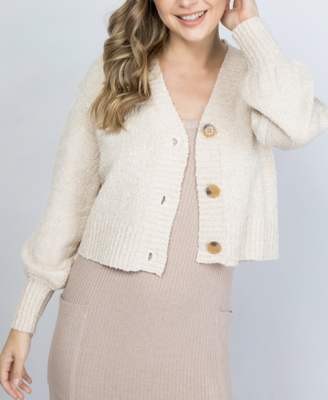 Oatmeal Knit Cardigan