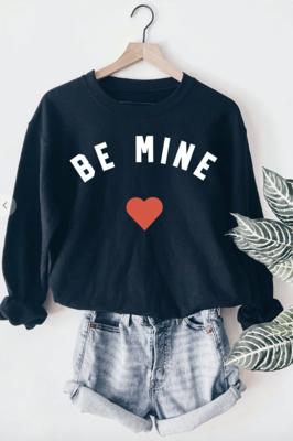 Be Mine Sweatshirt in Navy