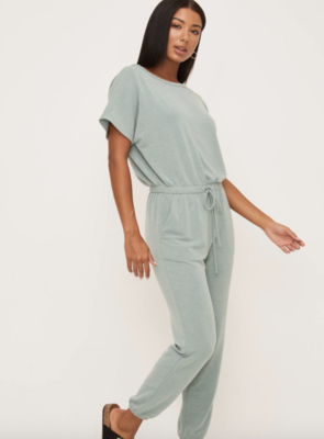 Effortless Jumpsuit in Iceberg Green