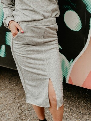 Work from home skirt in Heather Grey