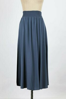 Everyday Maxi Skirt in Slate Blue