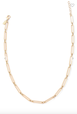 Paperclip Link Gold Chain Necklace