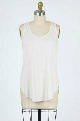Ribbed Tank Top in Cream