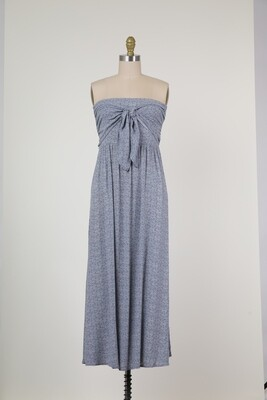 Baby's in Blue Strapless Maxi Dress