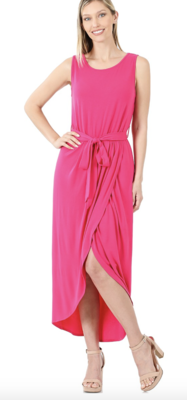 Tulip Maxi Dress in Hot Pink