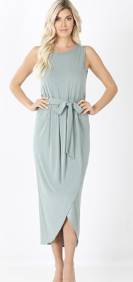 Tulip Maxi Dress in Light Green