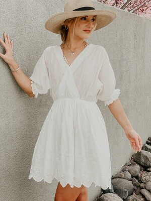 Endless Summer White Eyelet Dress