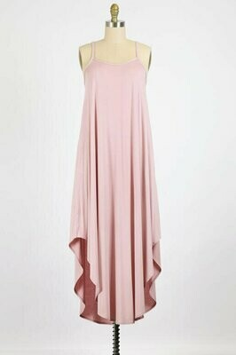 Spaghetti Strap Maxi Dress in Pale Mauve