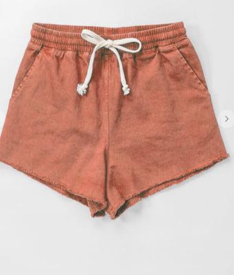 Desert Sunset Drawstring Shorts in Terracotta