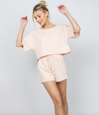 Summer Sleepover French Terry Shorts