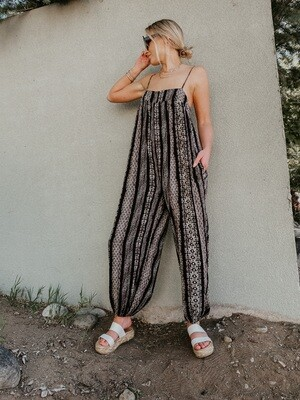 Because You Can Patterned Slouchy Jumpsuit