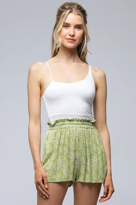 Double Lined Asymmetrical Cropped Tank