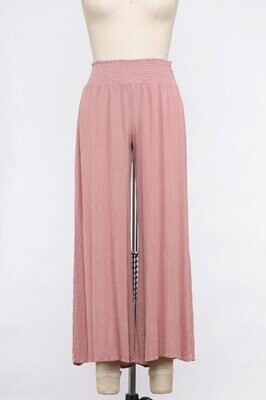 Petal Pink Wide Leg Pants