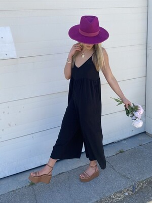 All The Places You'll Go Jumpsuit in Black