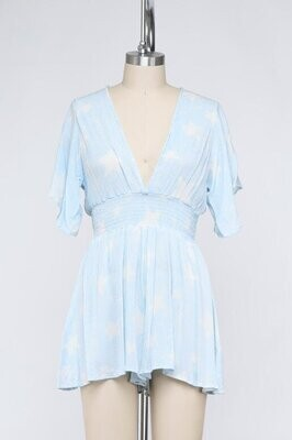 Star of the Show Romper in Ice Blue