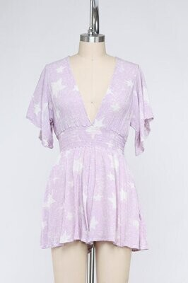 Star of the Show Romper in Orchid