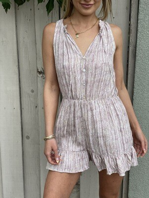 Born to Fly Romper in Light Mauve
