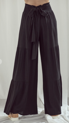Tiered Wide Leg Tied Pant