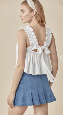 Makin' Plans Tied Top in White