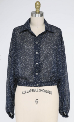 Office to Funfetti Collared Top
