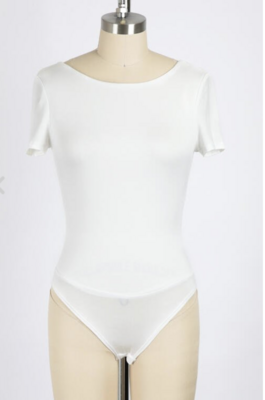 Double Lined Tee Bodysuit in Ivory