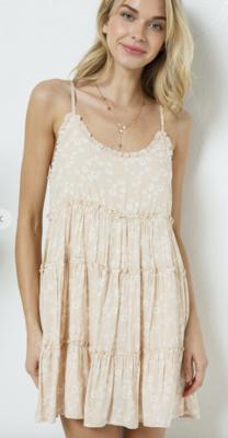 Hometown Girl Dress in Chill Beige