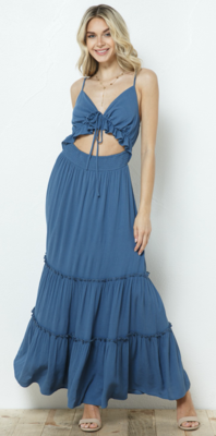 Free and Easy Maxi Dress in True Blue