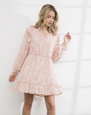Blushing hard in a Dress