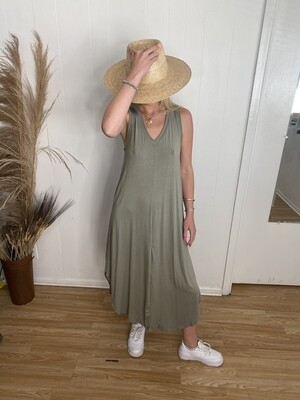 Wear Again & Again Maxi Dress in Vintage Olive