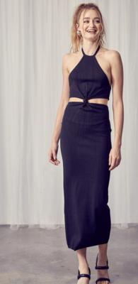 Cutout The Negative Knit Dress in Black