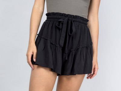 Go With The Flow Shorts in Black