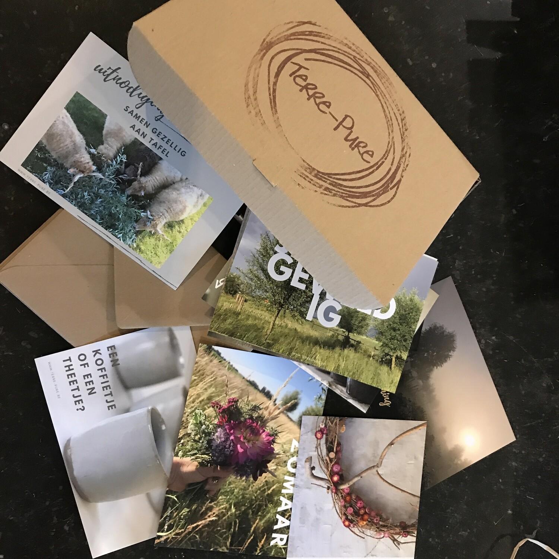 Set van 9 postkaarten