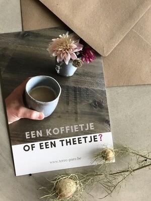 Kaart koffie of thee
