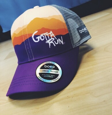 Gotta Run Lifestyle Mountain Sunset technical trucker