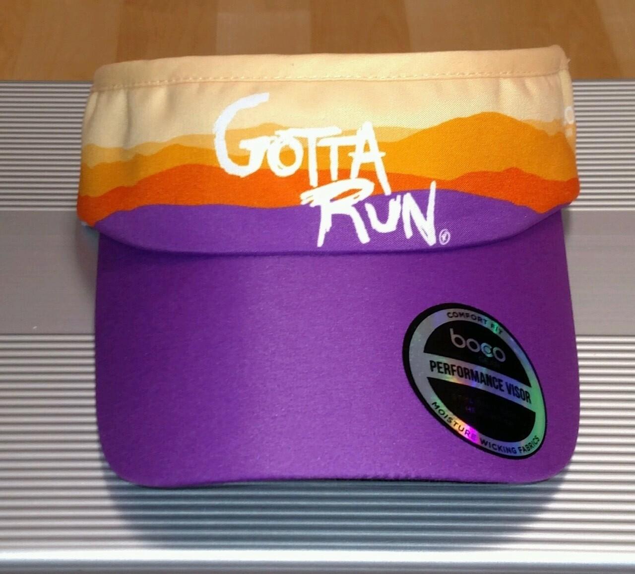 Gotta Run Lifestyle Mountain Sunset technical visor