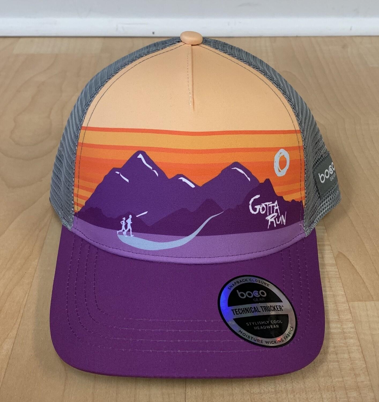 Gotta Run Lifestyle Purple Mountain Runners technical trucker