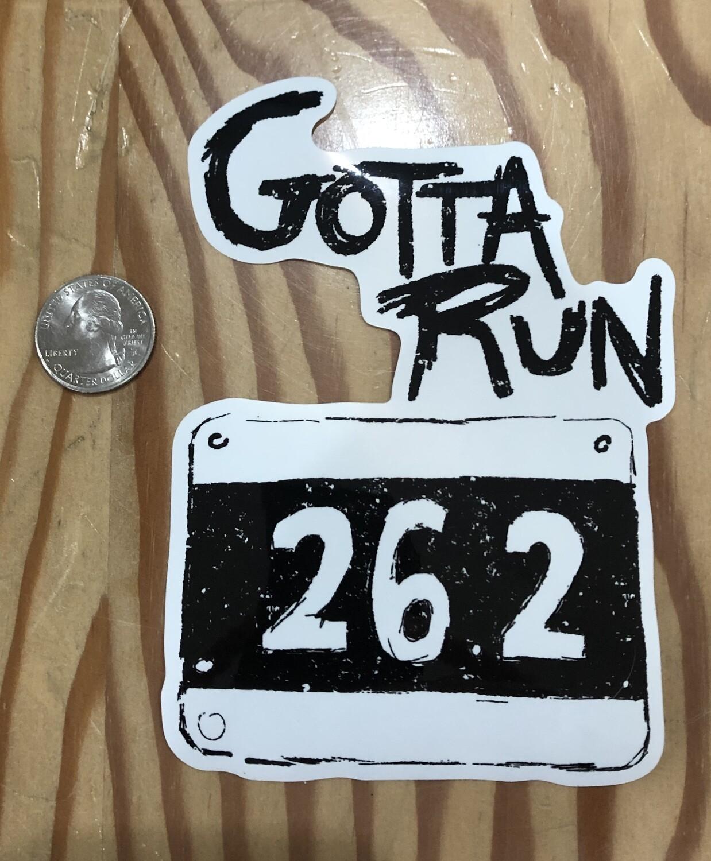 Gotta Run Lifestyle 26.2 Sticker