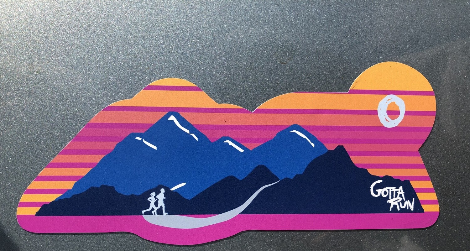 Gotta Run Lifestyle Mountain Sunset Runner magnet